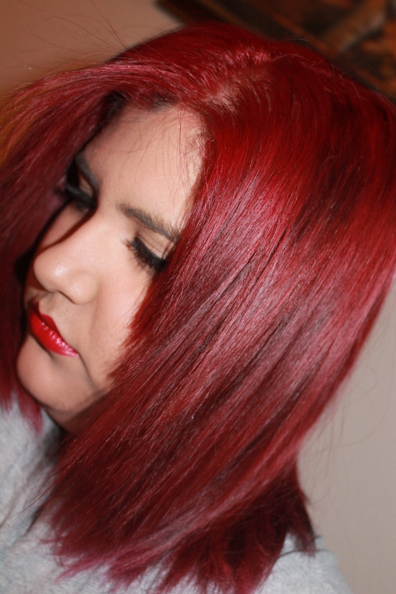How to dye your hair bright red and how to maintain it!