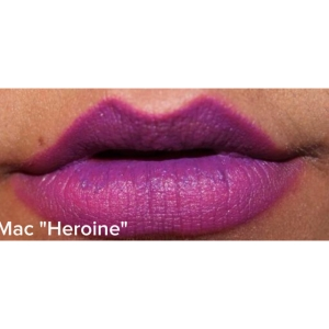 mac heroine on the lips