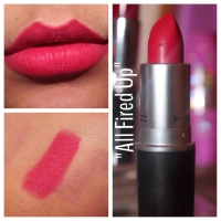 "Mac Cosmetics ""All Fired Up"" Lip Swatch"