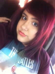 Ami Garza cherry red hair