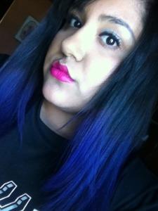 Ami Garza purple ombre
