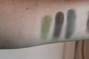 Mineral Shadow Swatches