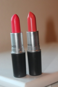Mac Cosmetics Relentlessly Red and Vegas Volt