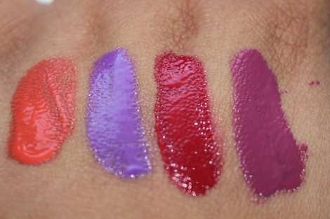 l.a girl lip paints swatches