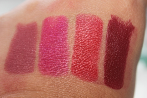 maybelline matte swatches lipsticks