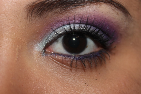 Frozen inspired eye look ami garza