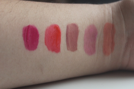 swatches of nyc lip stains
